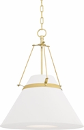 Hudson Valley 6421-AGB Clemens Modern Aged Brass Drop Ceiling Lighting