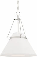 Hudson Valley 6421-PN Clemens Modern Polished Nickel Ceiling Pendant Light