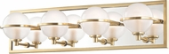 Hudson Valley 6444-AGB Axiom Contemporary Aged Brass LED 4-Light Bath Lighting Sconce