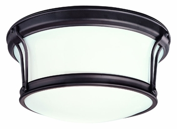 Hudson Valley 6510 Newport Flush Mount 10 Inch Diameter Overhead Lighting With Finish Options