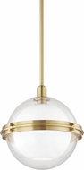 Hudson Valley 6514-AGB Northport Contemporary Aged Brass Drop Ceiling Light Fixture