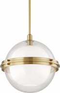 Hudson Valley 6518-AGB Northport Contemporary Aged Brass Pendant Light