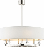 Hudson Valley 6530-PN Durham Modern Polished Nickel 30.5  Drum Hanging Light