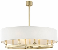 Hudson Valley 6539-AGB Durham Contemporary Aged Brass 39  Drum Pendant Light Fixture