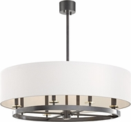 Hudson Valley 6539-AOB Durham Modern Aged Old Bronze 39  Drum Pendant Lighting Fixture