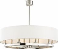 Hudson Valley 6539-PN Durham Contemporary Polished Nickel 39  Drum Hanging Pendant Lighting