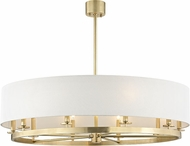 Hudson Valley 6542-AGB Durham Modern Aged Brass 42  Drum Hanging Pendant Light