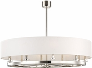 Hudson Valley 6542-PN Durham Contemporary Polished Nickel 42  Drum Pendant Hanging Light