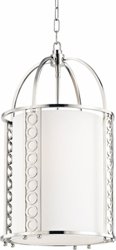 Hudson Valley 6714-PN Infinity Contemporary Polished Nickel 14 Foyer Light Fixture