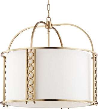 Hudson Valley 6724-AGB Infinity Modern Aged Brass Drum Hanging Light Fixture