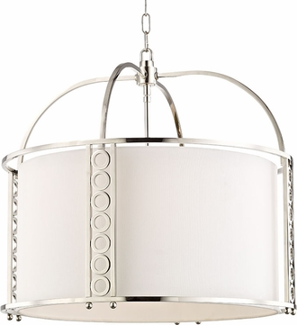Hudson Valley 6724-PN Infinity Contemporary Polished Nickel Drum Drop Lighting