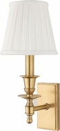 Hudson Valley 6801-AGB Ludlow Aged Brass Wall Sconce Light