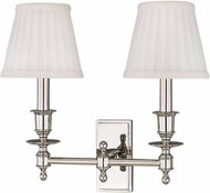 Hudson Valley 6802-PN Ludlow Polished Nickel Wall Sconce Lighting