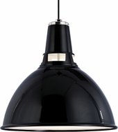 Hudson Valley 6816-BPN Lydney Contemporary Black / Polished Nickel 15.5  Ceiling Pendant Light