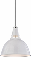 Hudson Valley 6816-WPN Lydney Contemporary White / Polished Nickel 15.5  Drop Lighting Fixture