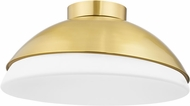 Hudson Valley 6819-AGB Morse Contemporary Aged Brass 19 Ceiling Light Fixture