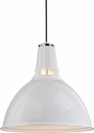 Hudson Valley 6820-WPN Lydney Modern White / Polished Nickel 19.5  Lighting Pendant