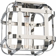Hudson Valley 6900-PN Colchester Contemporary Polished Nickel Ceiling Light Fixture