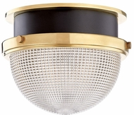 Hudson Valley 6909-AGB-BK Lucien Modern Aged Brass / Black 9  Flush Mount Lighting