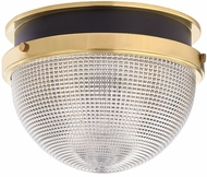 Hudson Valley 6914-AGB-BK Lucien Modern Aged Brass / Black 14  Flush Mount Light Fixture