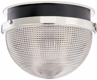 Hudson Valley 6914-PN-BK Lucien Contemporary Polished Nickel / Black 14  Flush Mount Lighting Fixture
