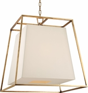 Hudson Valley 6924-AGB-WS Kyle Contemporary Aged Brass Hanging Lamp