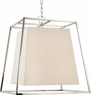 Hudson Valley 6924-PN-WS Kyle Modern Polished Nickel Hanging Pendant Lighting