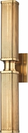 Hudson Valley 7032-AGB Gibbs Contemporary Aged Brass Sconce Lighting