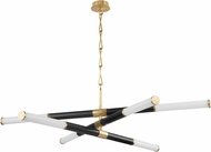 Hudson Valley 7066-AOB Huntington Contemporary Aged Old Bronze LED Lighting Chandelier