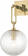 Hudson Valley 7101-AGB Jewett Contemporary Aged Brass Wall Light Sconce