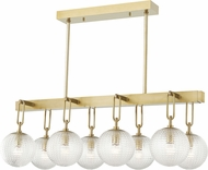 Hudson Valley 7108-AGB Jewett Modern Aged Brass Island Light Fixture