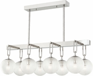 Hudson Valley 7108-PN Jewett Modern Polished Nickel Island Lighting