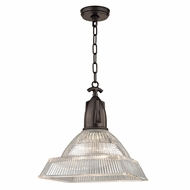 Hudson Valley 7114-OB Langdon Contemporary Old Bronze Drop Ceiling Light Fixture