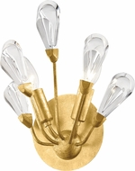 Hudson Valley 7200-GL Tulip Contemporary Gold Leaf Wall Lamp