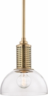 Hudson Valley 7210-AGB Halcyon Modern Aged Brass Mini Drop Lighting Fixture