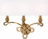 Hudson Valley 7213-AGB Pawling Aged Brass Wall Light Sconce