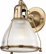 Hudson Valley 7301-AGB Haverhill Contemporary Aged Brass Lighting Sconce