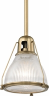 Hudson Valley 7308-AGB Haverhill Modern Aged Brass Mini Hanging Pendant Light