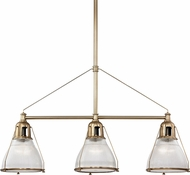 Hudson Valley 7313-AGB Haverhill Contemporary Aged Brass Island Light Fixture