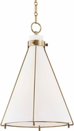 Hudson Valley 7316-AGB Eldridge Contemporary Aged Brass Pendant Light Fixture