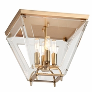 Hudson Valley 7414-AGB Andover Aged Brass Finish 13.5 Wide Overhead Light Fixture