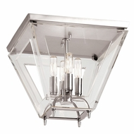 Hudson Valley 7414-PN Andover Polished Nickel Finish 12 Tall Overhead Lighting Fixture