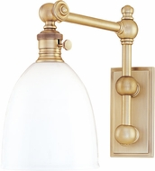 Hudson Valley 762-AGB Roslyn Vintage Aged Brass Swing Arm Wall Lamp
