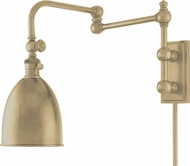 Hudson Valley 771-AGB Roslyn Retro Aged Brass Swing Arm Wall Lamp
