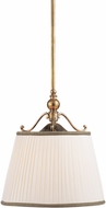 Hudson Valley 7711-AGB Orchard Park Aged Brass Drum Pendant Lamp