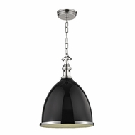 Hudson Valley 7714-BPN Viceroy Contemporary Black/Polished Nickel Pendant Lighting