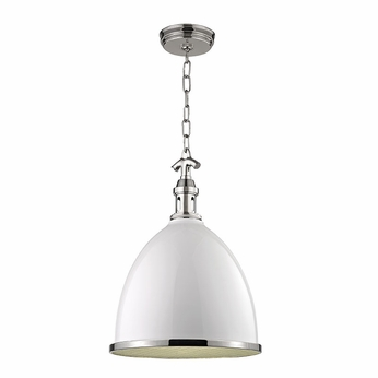 Hudson Valley 7714-WPN Viceroy Contemporary White/Polished Nickel Lighting Pendant