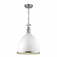 Hudson Valley 7718-WPN Viceroy Contemporary White/Polished Nickel Pendant Light Fixture