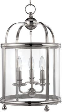 Hudson Valley 7812-PN Larchmont Polished Nickel 12.5 Foyer Light Fixture