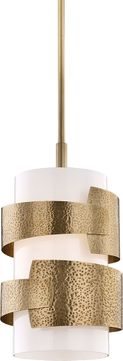 Hudson Valley 7813-AGB Lanford Contemporary Aged Brass Pendant Lighting